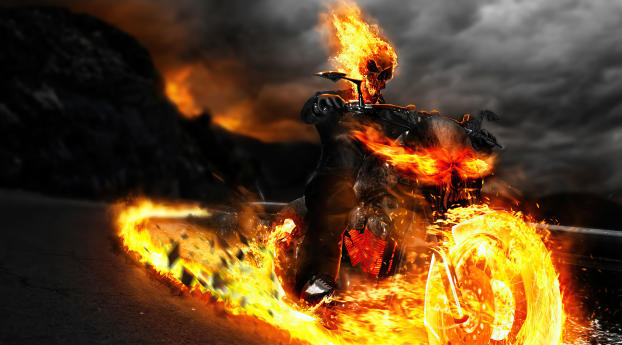 Ghost Rider 4K MCU Wallpaper 1024x768 Resolution