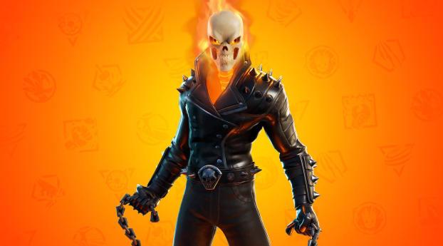 Ghost Rider Fortnite 4K Wallpaper