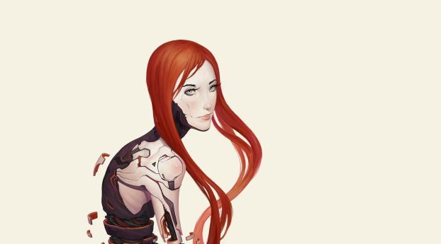 girl, robot, cyborg Wallpaper