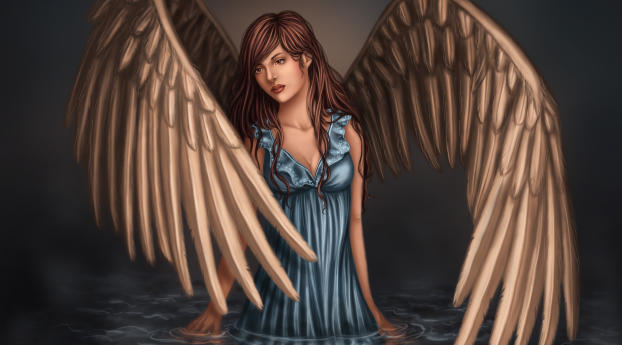 girl, wings, art Wallpaper 800x1280 Resolution