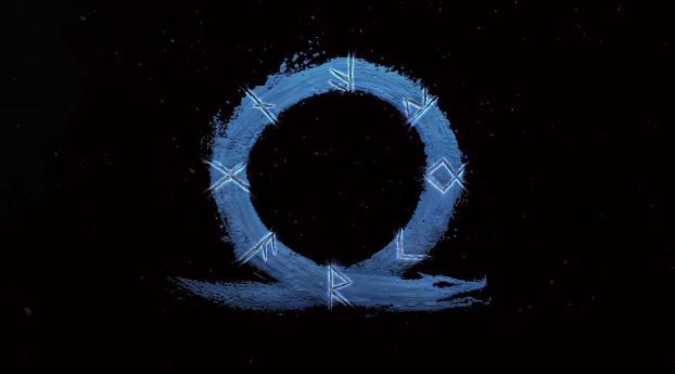 God of War Ragnarok Game Logo Wallpaper