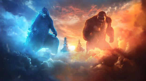 Godzilla and Kong Team Up Wallpaper