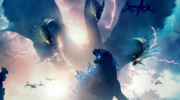HD Wallpaper | Background Image Godzilla King of the Monsters Movie 2019
