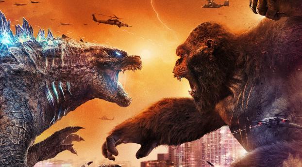 Godzilla Kong Battle Wallpaper