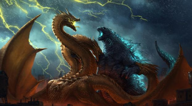 HD Wallpaper | Background Image Godzilla vs King Ghidorah King of the Monsters