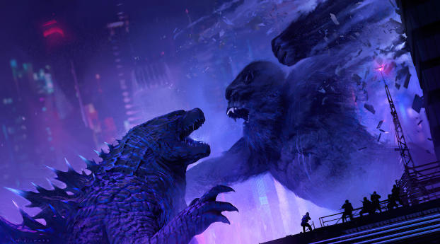 Godzilla Vs Kong New FanArt Wallpaper 1440x900 Resolution