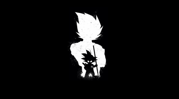 HD Wallpaper | Background Image Goku Anime Dark Black