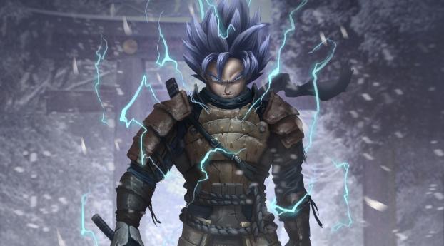 HD Wallpaper   Background Image Goku Samurai