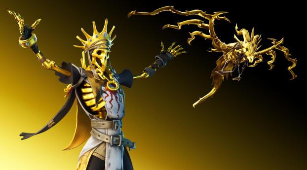HD Wallpaper | Background Image Golden King Fortnite