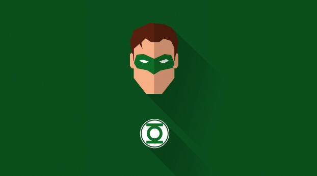 HD Wallpaper | Background Image Green Lantern Minimal