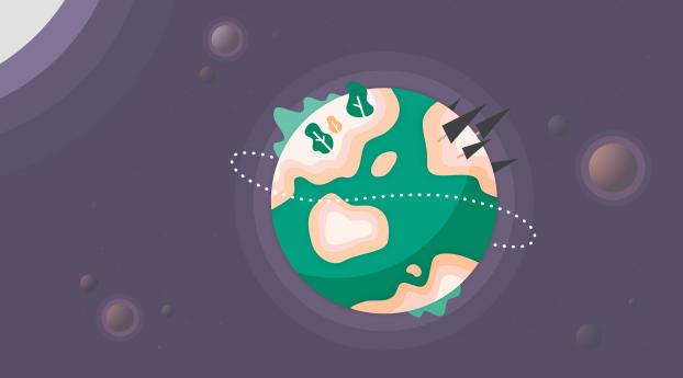 Greenified Earth Wallpaper
