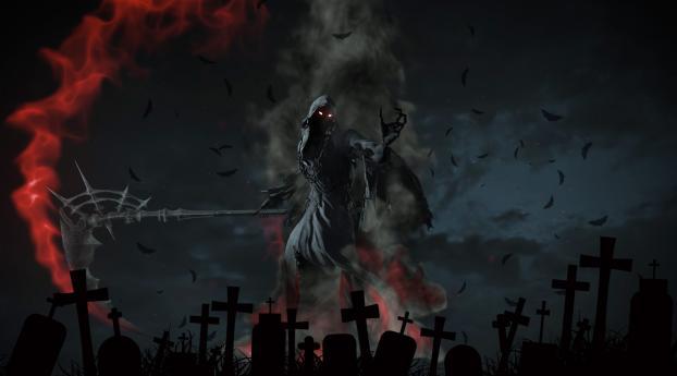 Grim Reaper Artwork Wallpaper