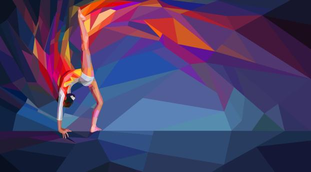 HD Wallpaper | Background Image Gymnastics Low Poly Painting