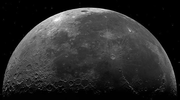 HD Wallpaper | Background Image Half Moon 8k