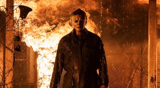 Halloween Kills HD Movie Wallpaper 1024x768 Resolution