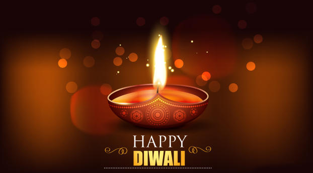 Happy Diwali 2020 Wallpaper in 2048x1152 Resolution