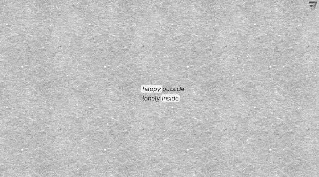 Happy Outside Lonely Inside Wallpaper 1440x900 Resolution