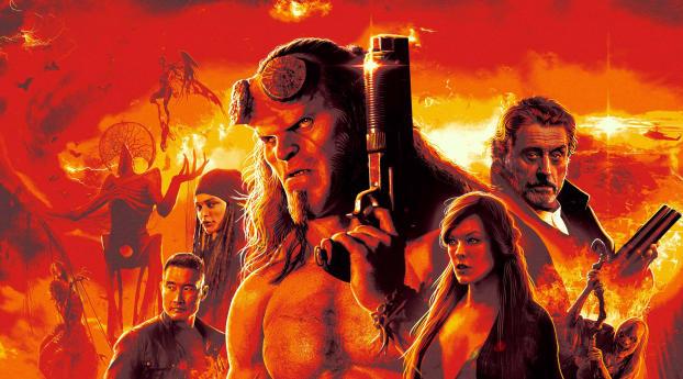 HD Wallpaper | Background Image Hellboy Movie