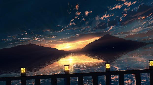 Hill Horizon Sunset Wallpaper 320x480 Resolution