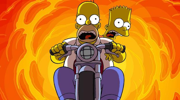 HD Wallpaper | Background Image Homer Simpson and Bart Simpson