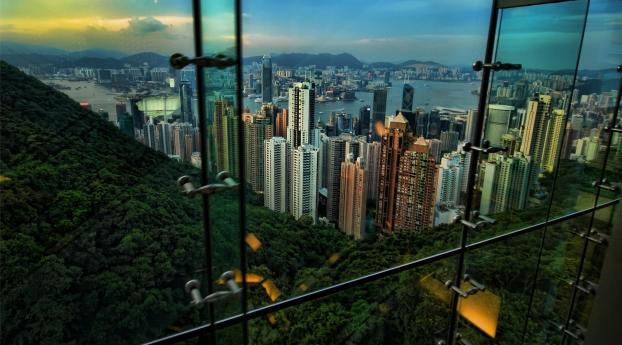 1125x2436 Hong Kong View Night Iphone Xs Iphone 10 Iphone