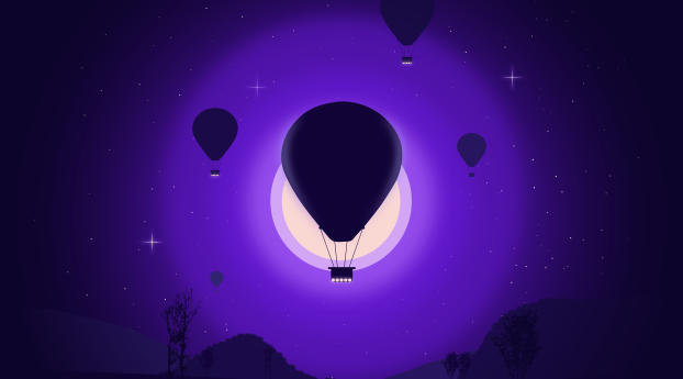 HD Wallpaper | Background Image Hot Air Balloon Art