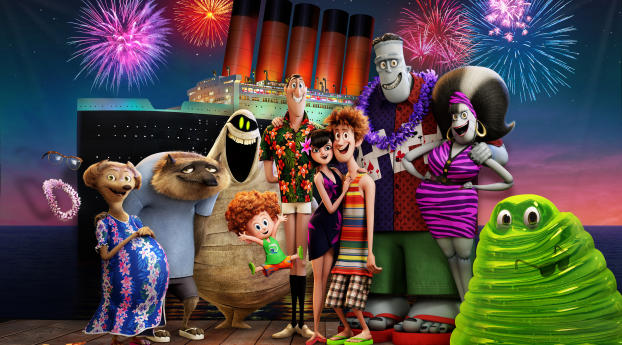 Hotel Transylvania 3 2018 Wallpaper in 1336x768 Resolution