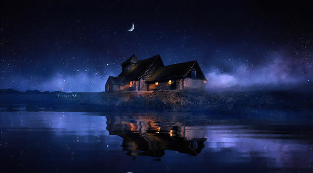 HD Wallpaper | Background Image House Reflected in the Lake