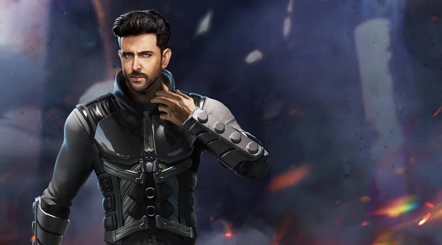 Hrithik as Jai Garena Free Fire Wallpaper in 2560x1024 Resolution