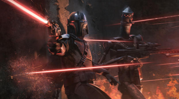 HD Wallpaper   Background Image IG-11 and Mandalorian