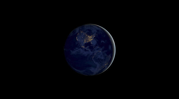 Ios 11 Earth Night, HD 4K Wallpaper