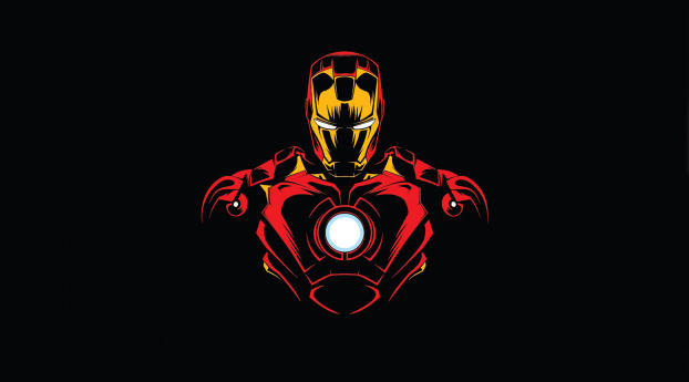 HD Wallpaper | Background Image Iron Man Minimalist