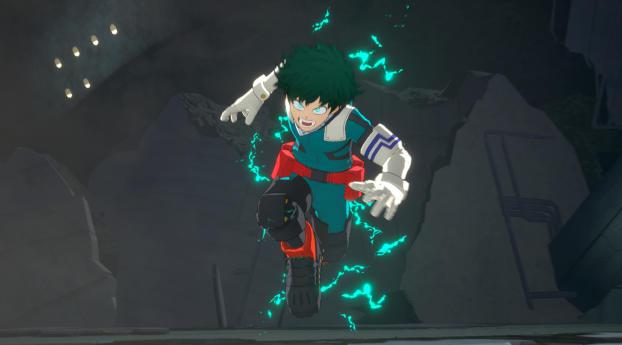 Izuku Midoriya In My Hero Ones Justice 2 Wallpaper