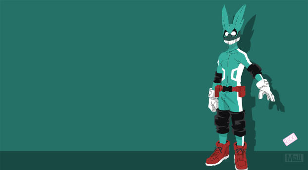 HD Wallpaper | Background Image Izuku Midoriya Minimal