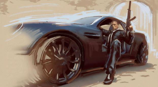 HD Wallpaper | Background Image James Bond Art