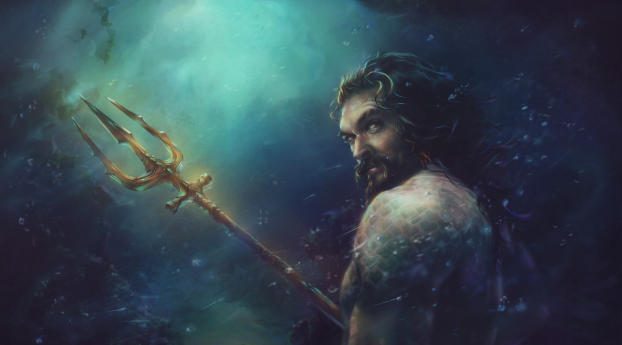 HD Wallpaper | Background Image Jason Momoa Aquaman Art