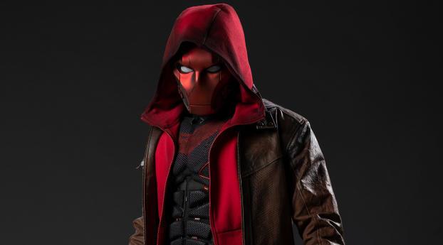 Jason Todd as Red Hood Titans Season 3 Concept Art Wallpaper 320x240 Resolution