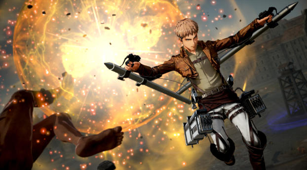 2560x1080 Jean Thunder Spear Attack On Titan 2 2560x1080 Resolution Wallpaper Hd Games 4k Wallpapers Images Photos And Background