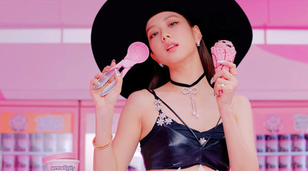 Jisoo BLACKPINK Ice Cream Wallpaper