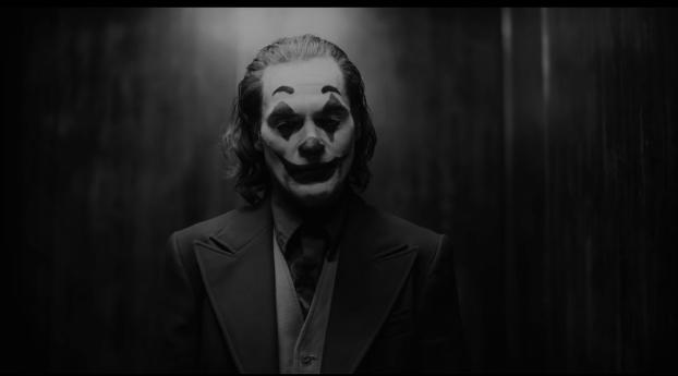 HD Wallpaper | Background Image Joaquin Phoenix As Joker Monochrome