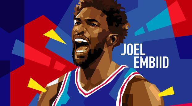 Joel Embiid Art 2021 Wallpaper