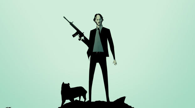 HD Wallpaper | Background Image John Wick and Dog