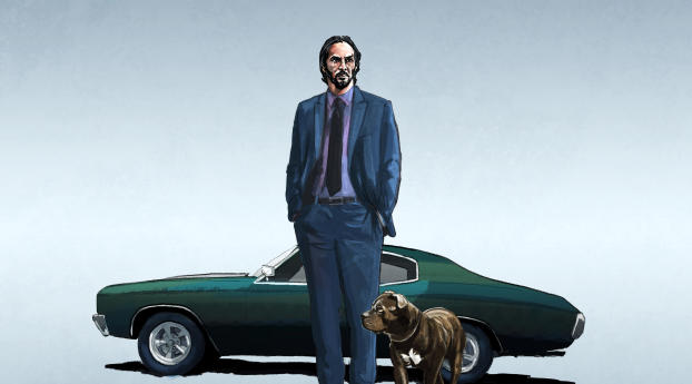 HD Wallpaper | Background Image John Wick with Mustang