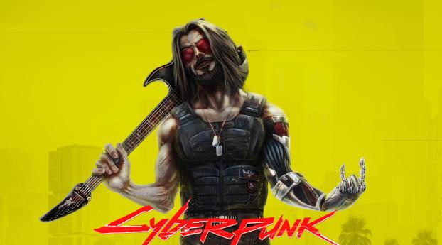 Johnny Silverhand aka Keanu Reeves In Cyberpunk 2077 Wallpaper