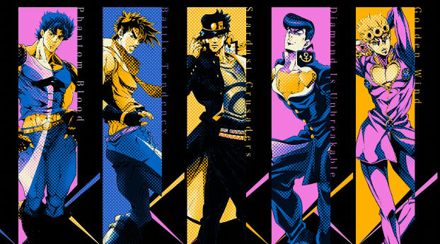 Jojo S Bizarre Adventure All Characters Wallpaper Hd Anime 4k Wallpapers Images Photos And Background