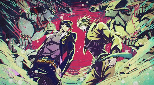 HD Wallpaper | Background Image JoJo's Bizarre Adventure Stardust Crusaders