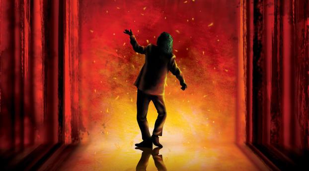 Joker Dance Art Wallpaper 640x960 Resolution