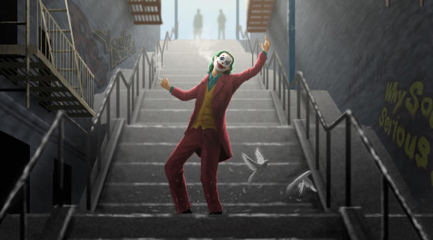 640x960 Joker Dance On Stairs Iphone 4 Iphone 4s Wallpaper Hd Superheroes 4k Wallpapers Images Photos And Background