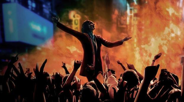 Joker Dancing Art Wallpaper