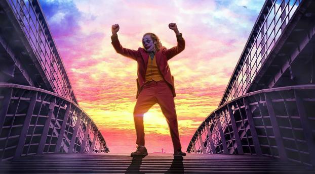 Joker Dancing On Stairs Wallpaper 1920x1200 Resolution